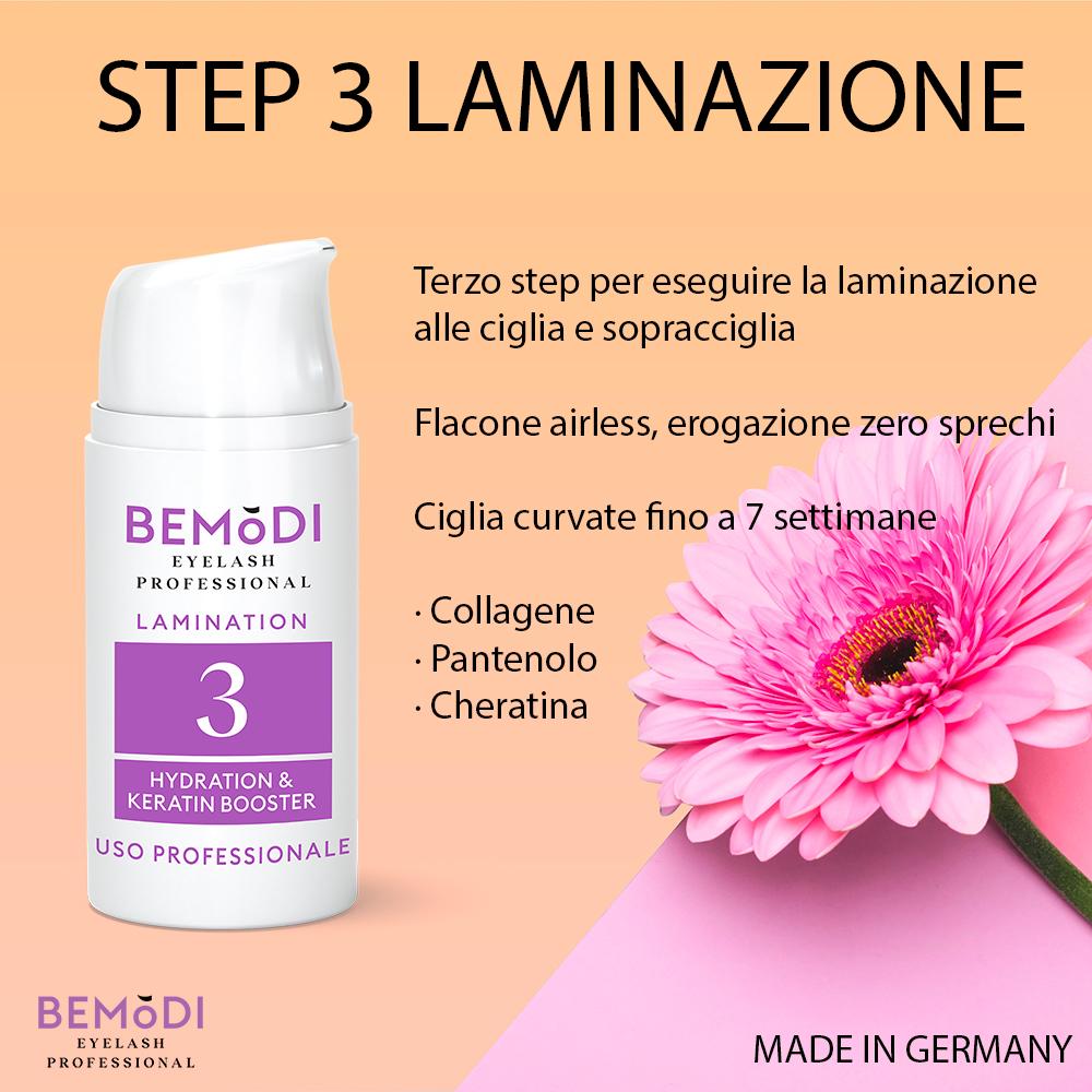 Step 3 Botox-Serum, Laminación de pestañas y cejas, BeModi