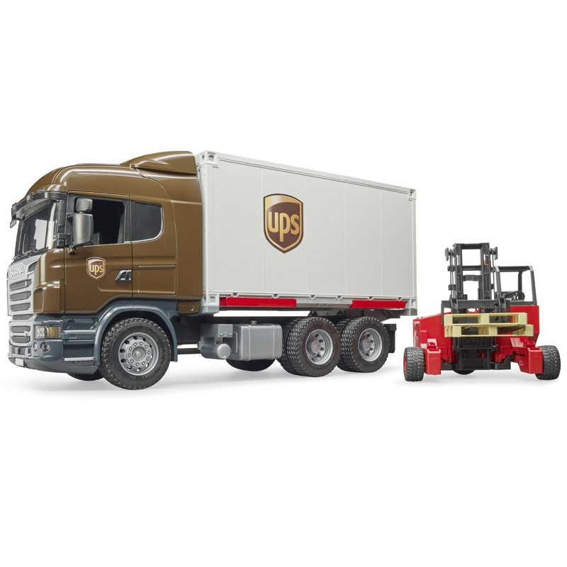 BRUDER - SCANIA Camion UPS + Muletto 03581