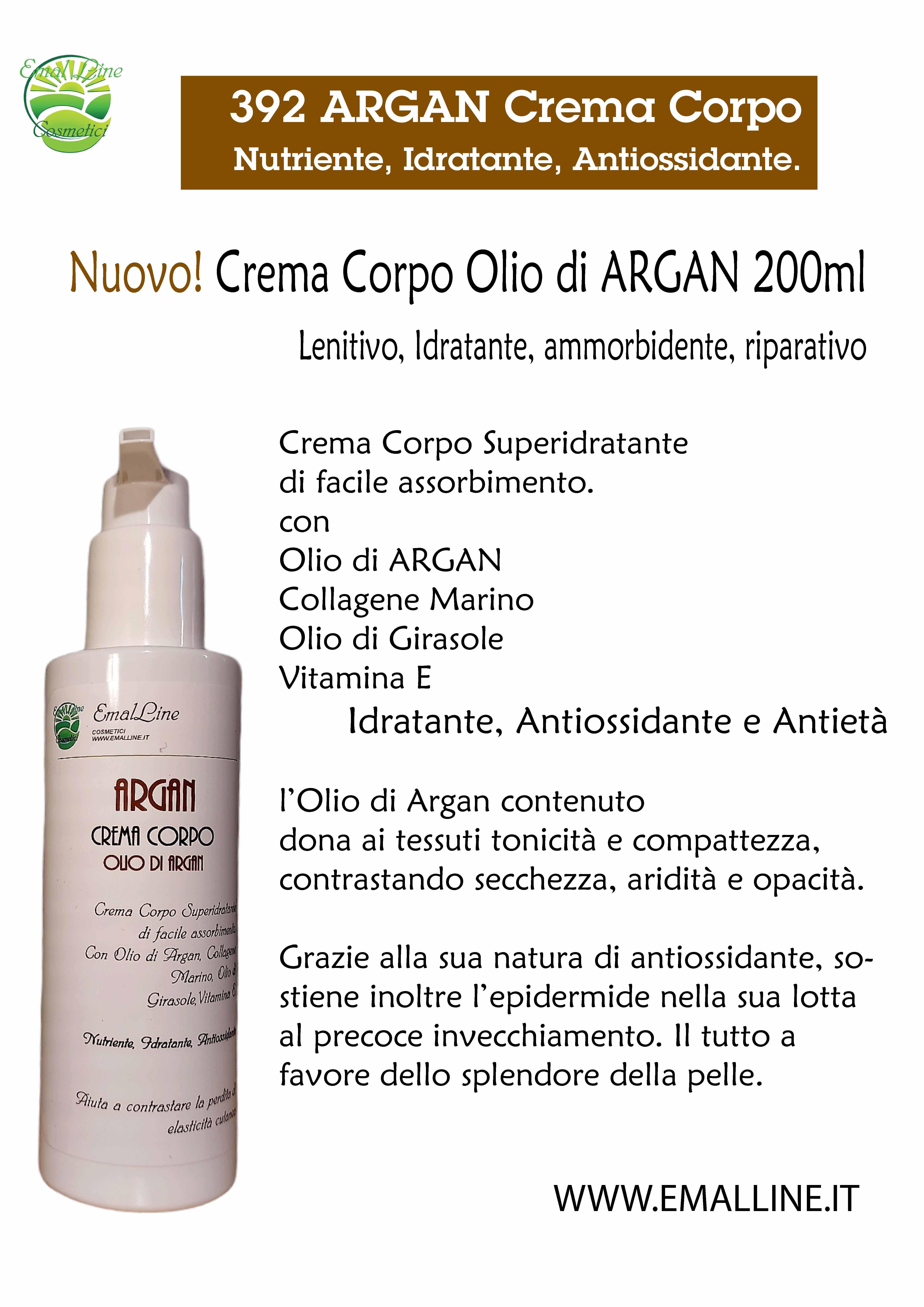 Crema Corpo Elasticizzante Idratante Olio di Argan 200 ml