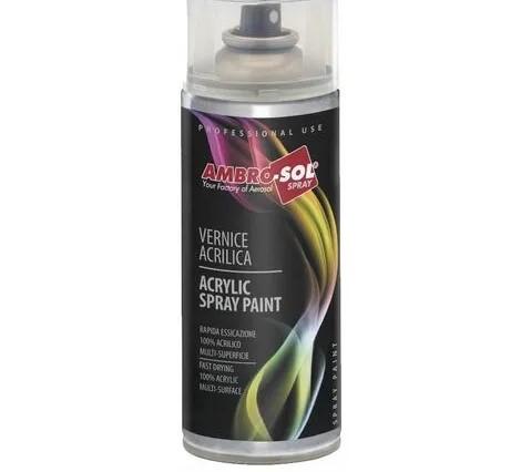 Smalto Acrilico Spray Multiuso 400ML Ambrosol Trasparente Lucido