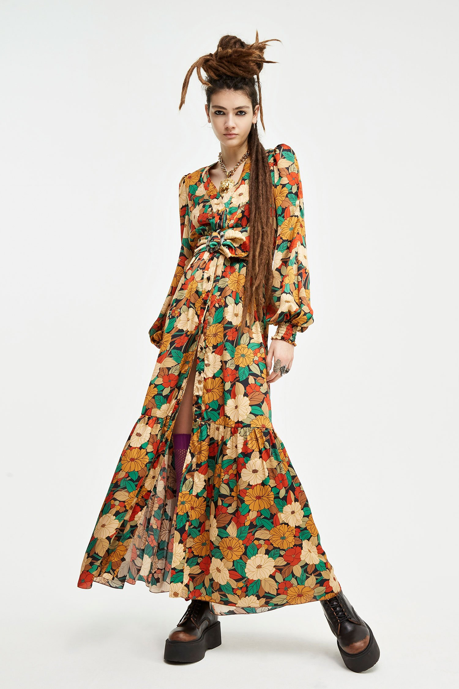 SHOPPING ON LINE ANIYE BY  LONG DRESS BLOSSOM NEW COLLECTION  WOMEN'S FALL/WINTER 2022
