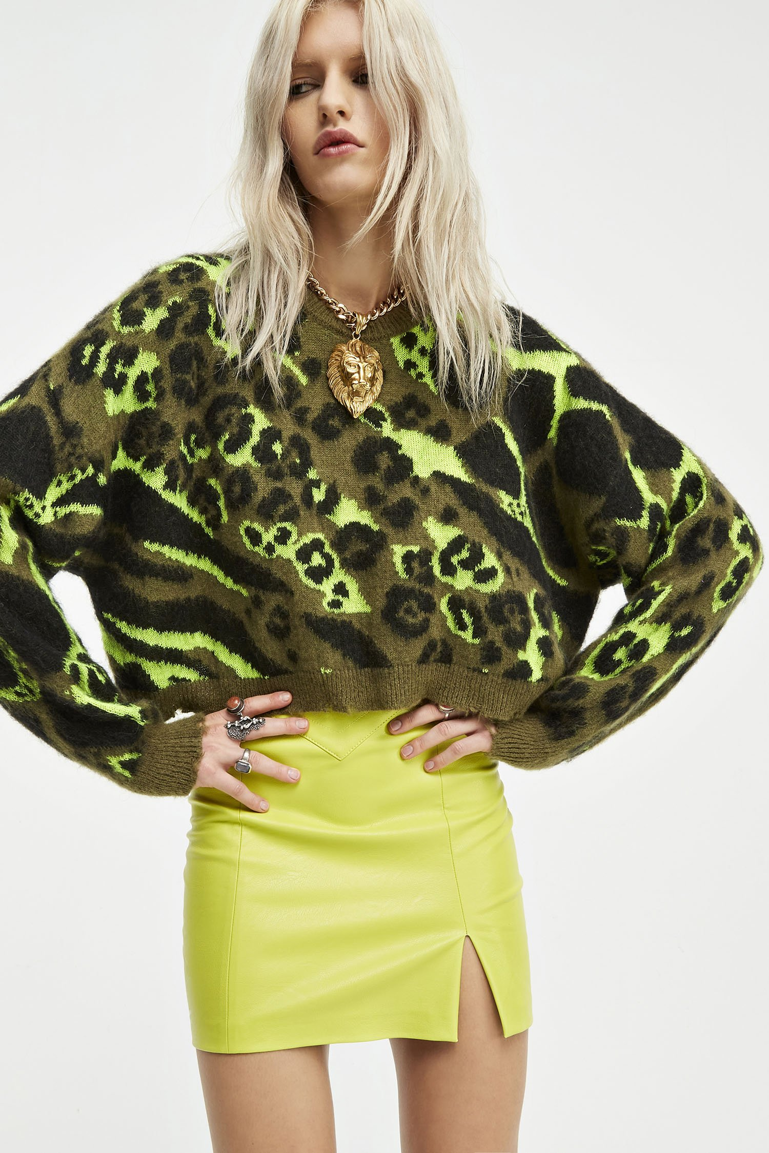 SHOPPING ON LINE ANIYE BY  PULLOVER CROP CAMOU  NEW COLLECTION  WOMEN'S FALL/WINTER 2022