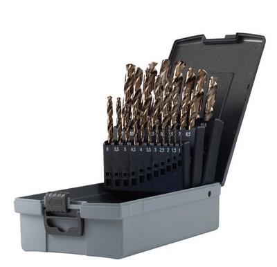 Serie punte per ferro professionali HSS-COBALTO 8% mm 1-13 Krino 01135302