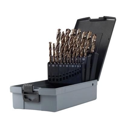 Serie punte per ferro professionali HSS-COBALTO 5% mm 1-13 Krino 01155302