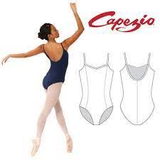 GisCC101 -body basic Capezio a bretelline