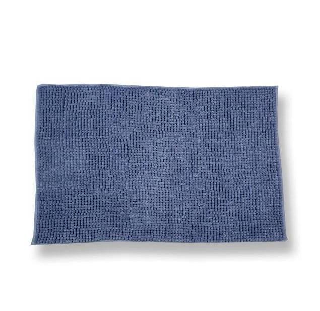 Tappeto antiscivolo Soffy blu 65 x 130