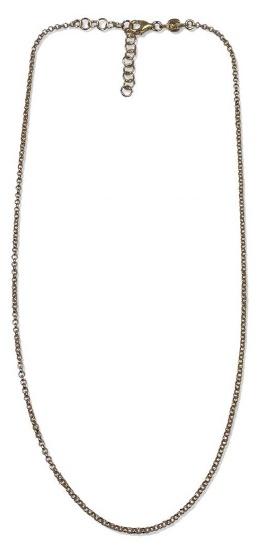 Catena in argento 925 dorato formata da una catena rolò