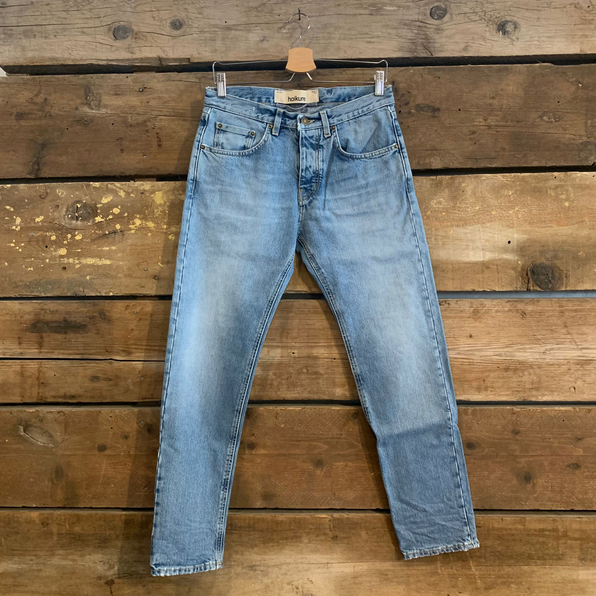 Jeans Haikure Uomo Tokyo Slim Crop Old Blue Denim Epoch Light