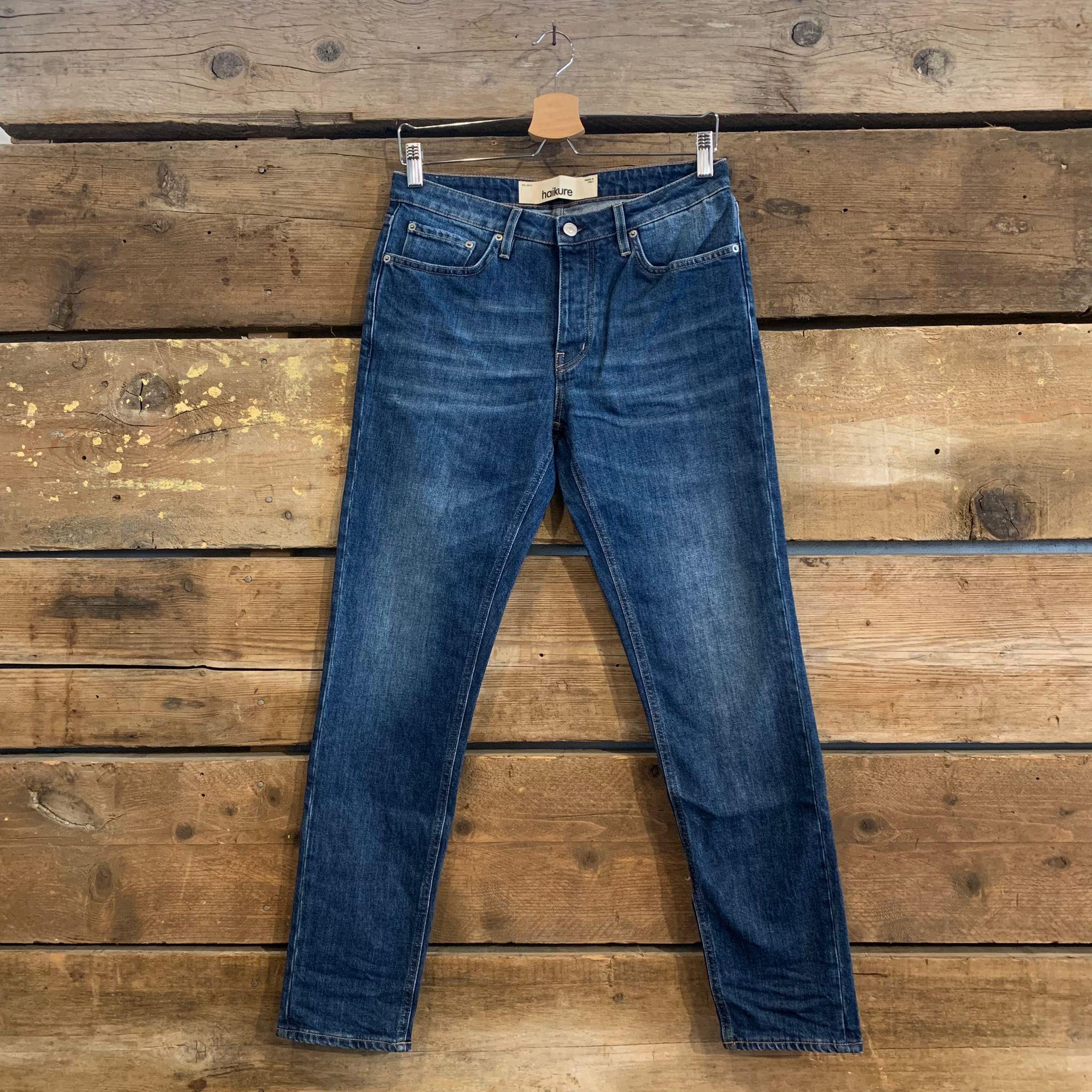 Jeans Haikure Uomo Cleveland Crop Comfort Pure Blu Pure Indigo