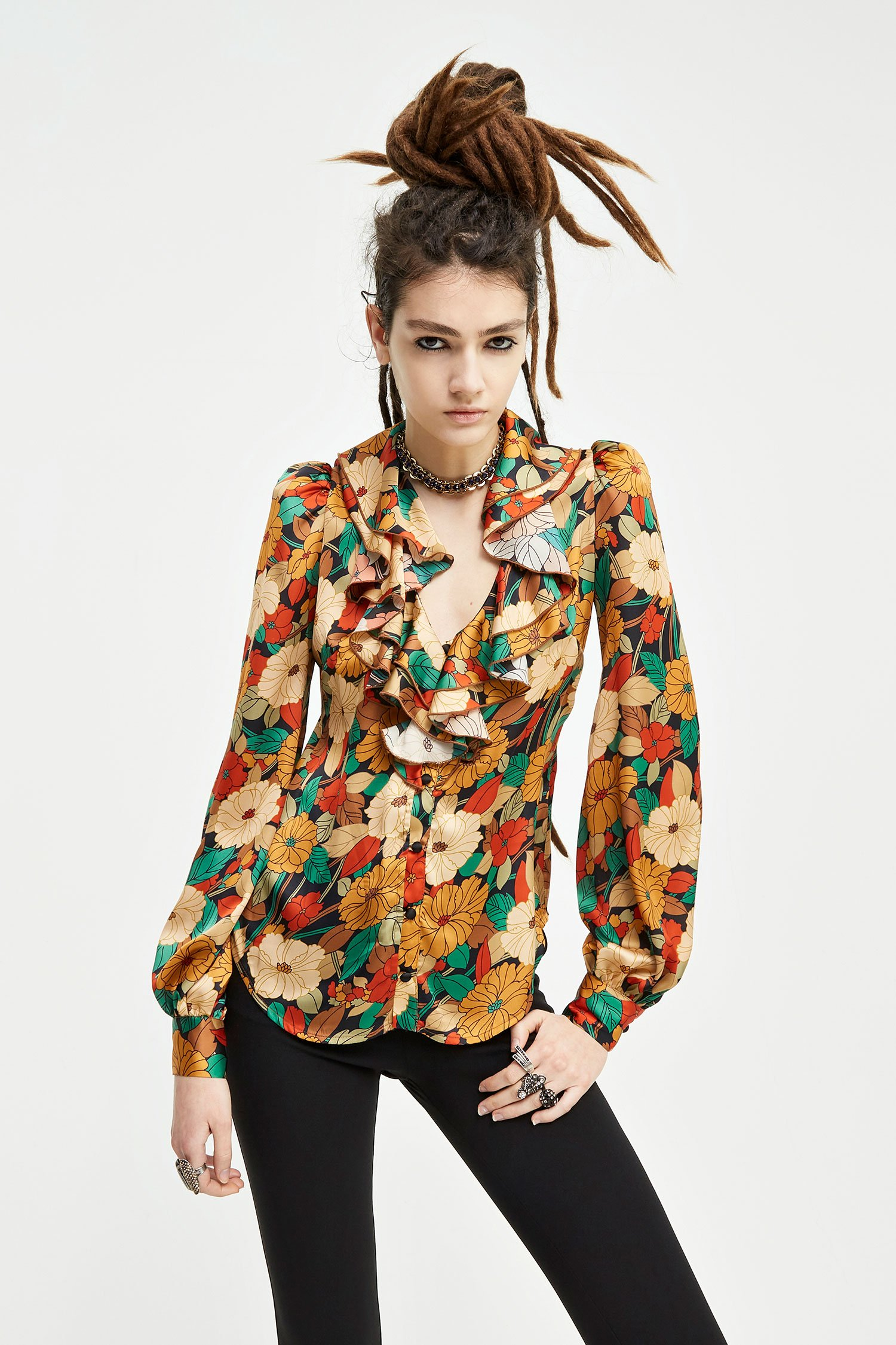 SHOPPING ON LINE ANIYE BY ANIYE CHEMISETTE BLOSSOM  NEW COLLECTION  WOMEN'S FALL/WINTER 2022
