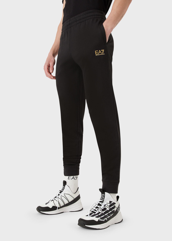 Pantalone uomo EA7 JOGGER CON LOGO BLACK