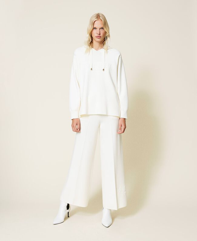SHOPPING ON LINE TWINSET MILANO PANTALONI A PALAZZO IN VISCOSA NEW COLLECTION PREVIEW FALL WINTER 2022