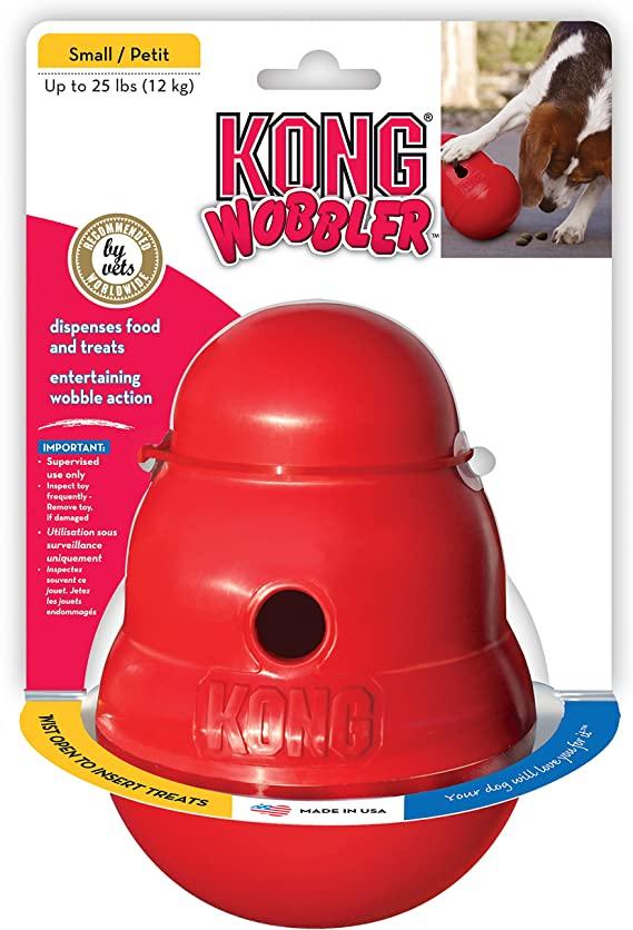 KONG - Wobbler - Gioco Cani Interattivo Dispenser di Premi, Lavabile in Lavastoviglie