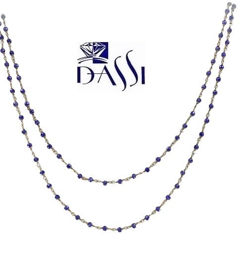 Girocollo a rosario in argento 925 dorato e peridoto