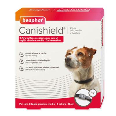 CANISHIELD S 48 CM  - COLLARE ANTIPARASSITARIO PER CANI DI TAGLIA PICCOLA E MEDIA- Beaphar