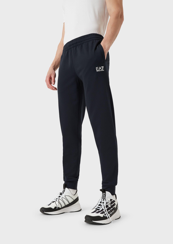 Pantalone uomo EA7 JOGGER CON LOGO NIGHT BLUE