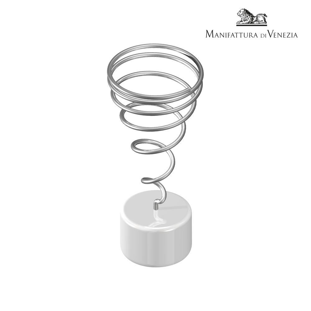 Portaspiedino rotondo bianco + spirale a cono | Finger Food