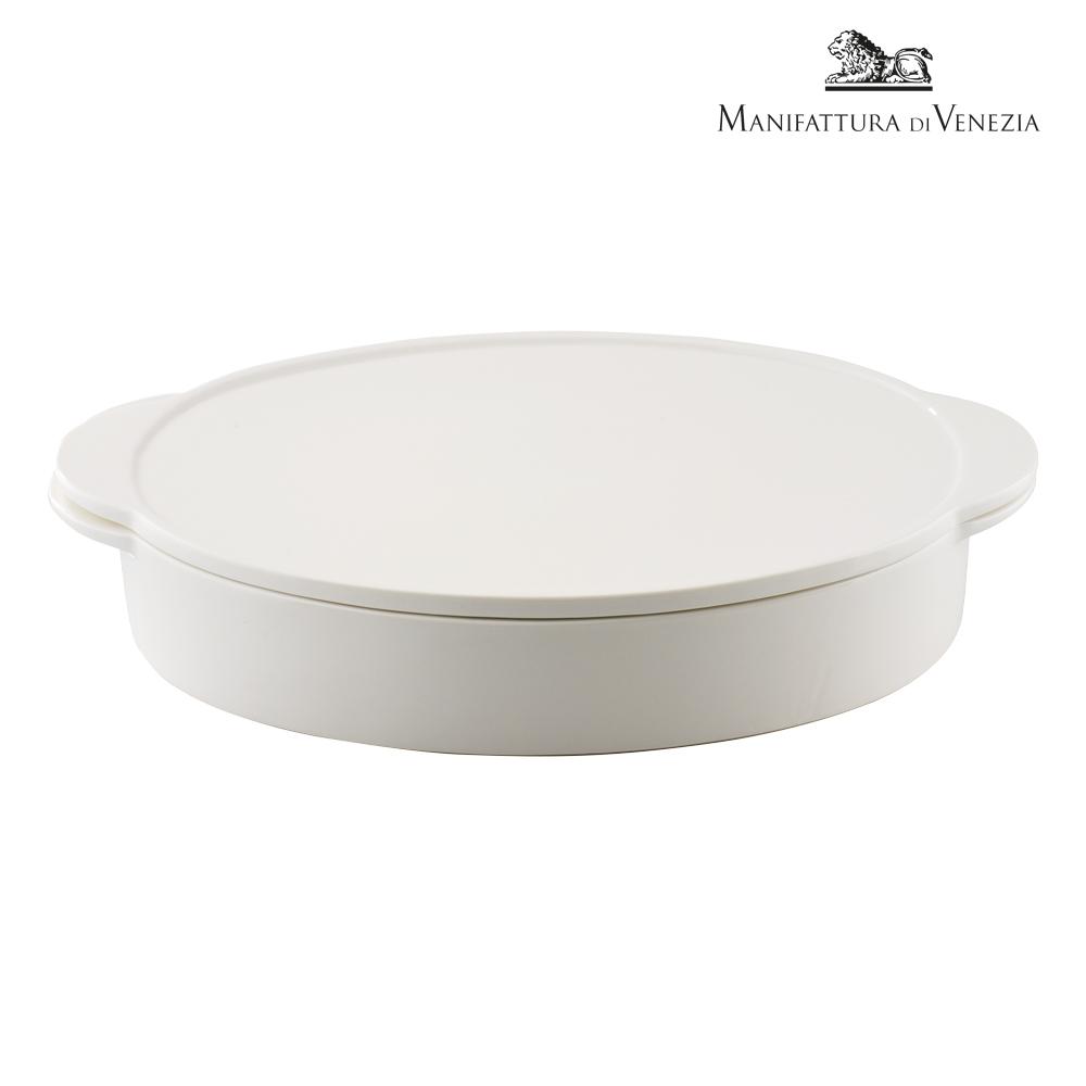 Pirofila con coperchio ovale bianca cm 34 | PYRO SURPRISE