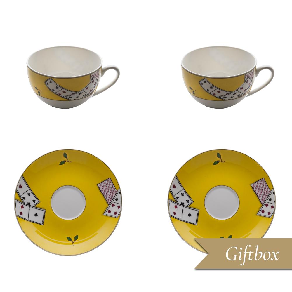 Set tè 4 pezzi in Giftbox   Carte da Zogo