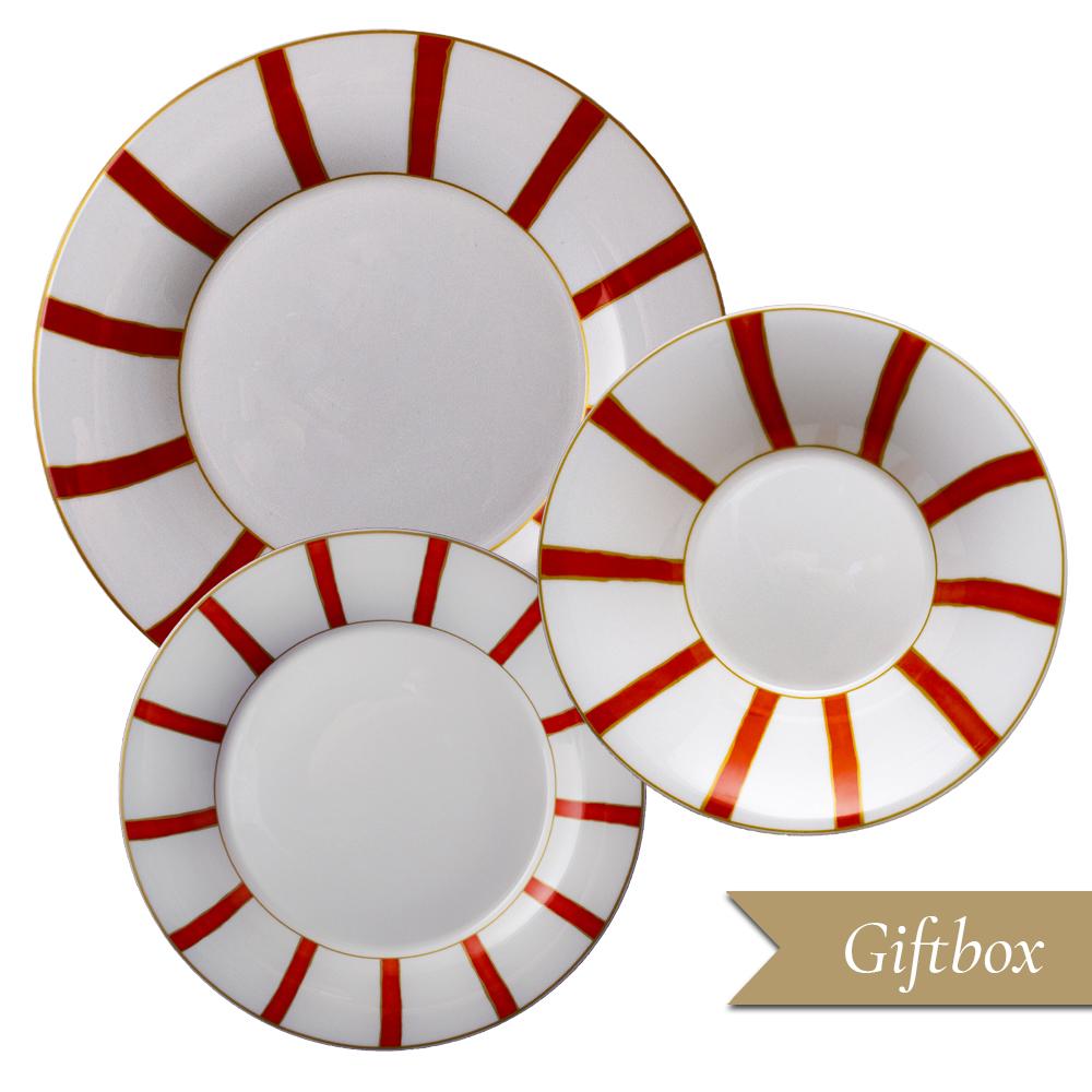 Set 3 pezzi in Giftbox GCV | Striche Arancio e Oro