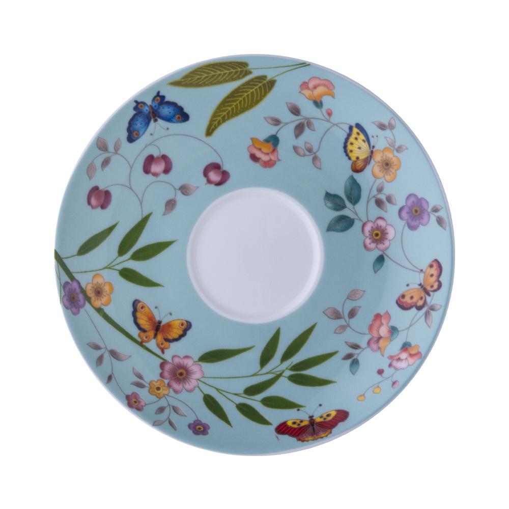 Piattino per tazza thè e cappuccino cm 15   Incanto di Primavera