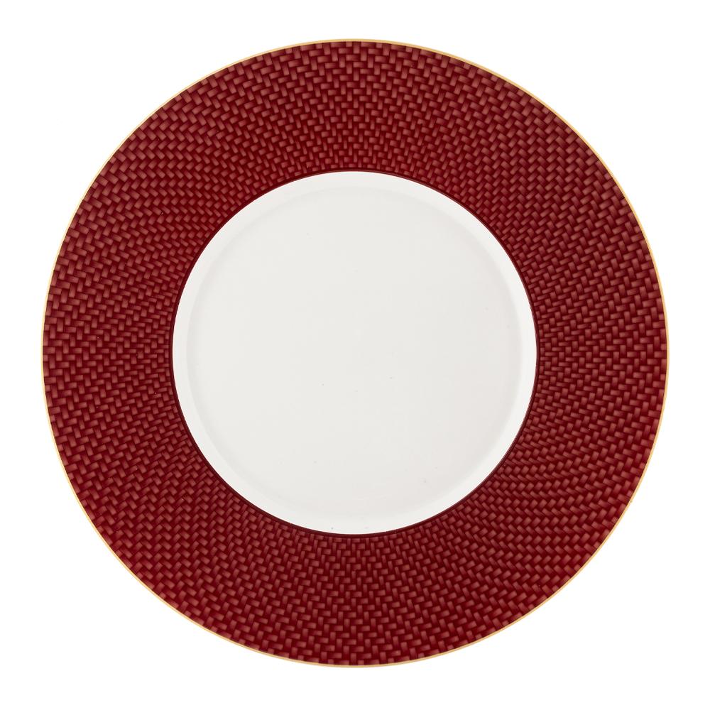 Segnaposto cm 33 - rosso - ala cm. 7   Intrecci