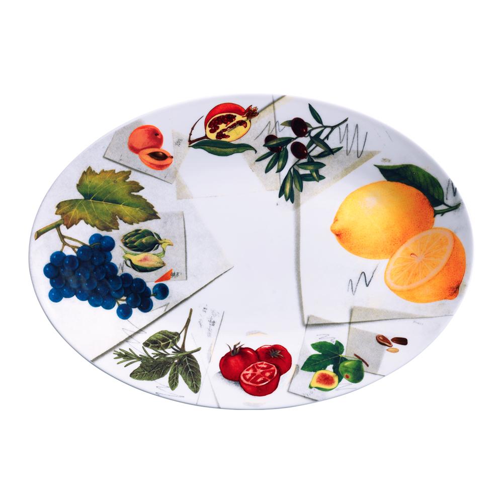 Piatto ovale cm 37   Vegan   La Cucina Italiana