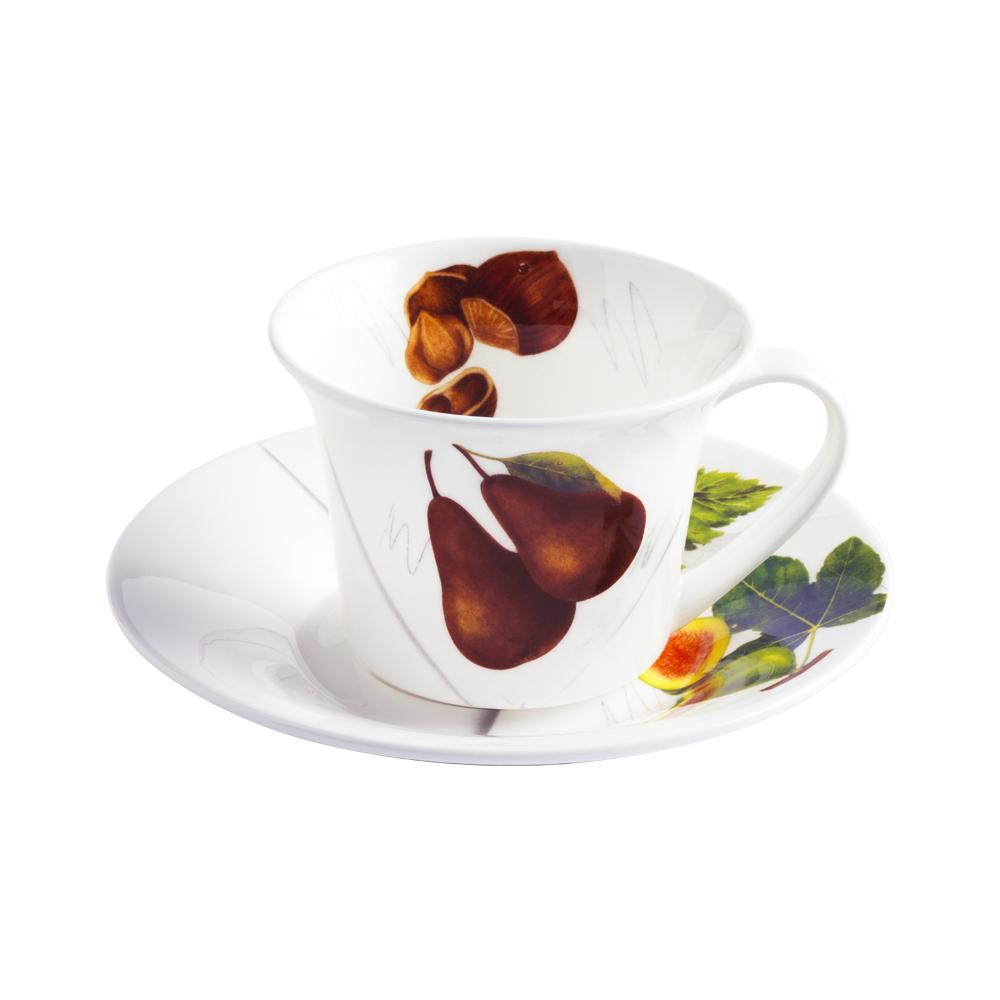 Tazza thè e cappuccino con piattino cc 250   Vegan   La Cucina Italiana