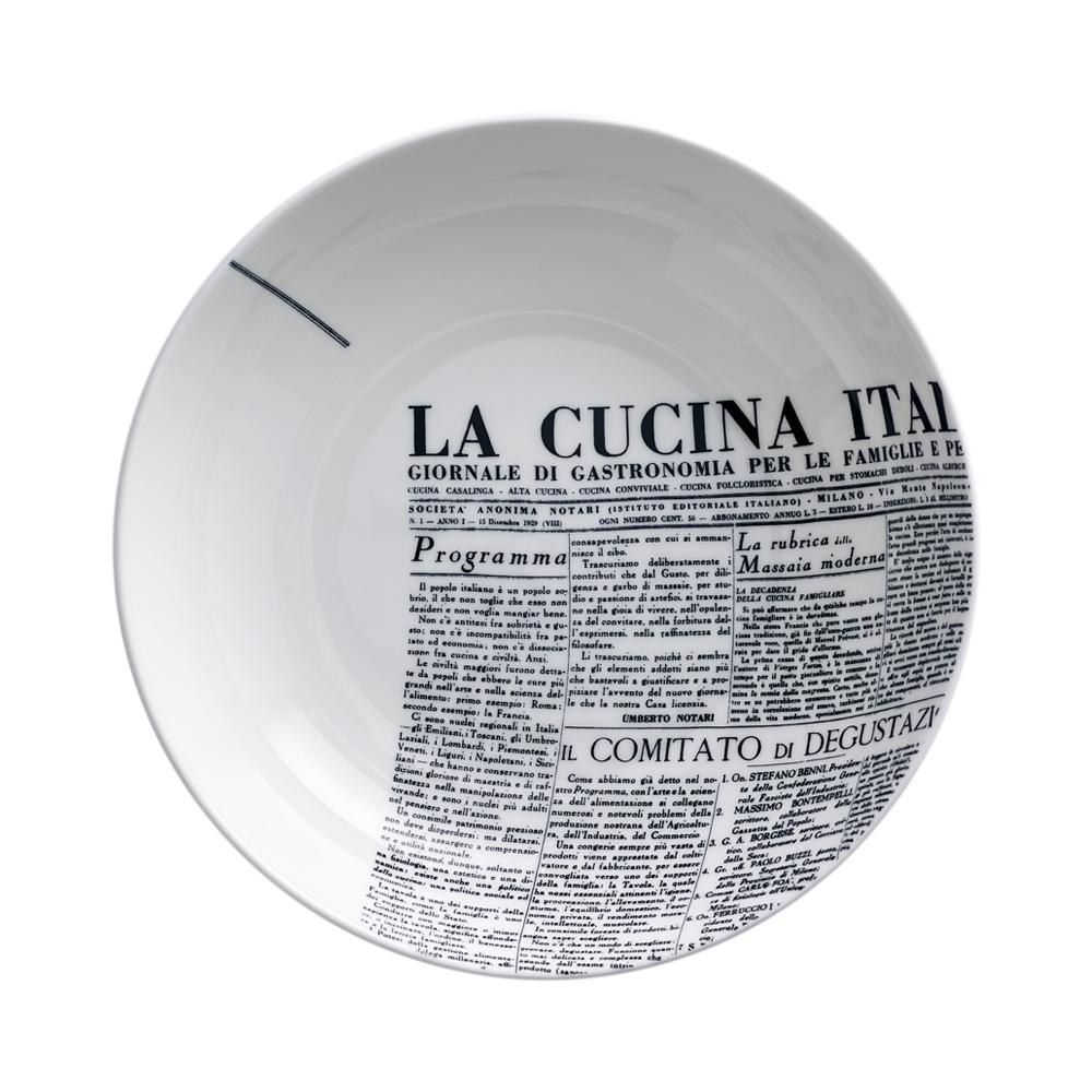 Piatto fondo cm 20   Geometric   La Cucina Italiana