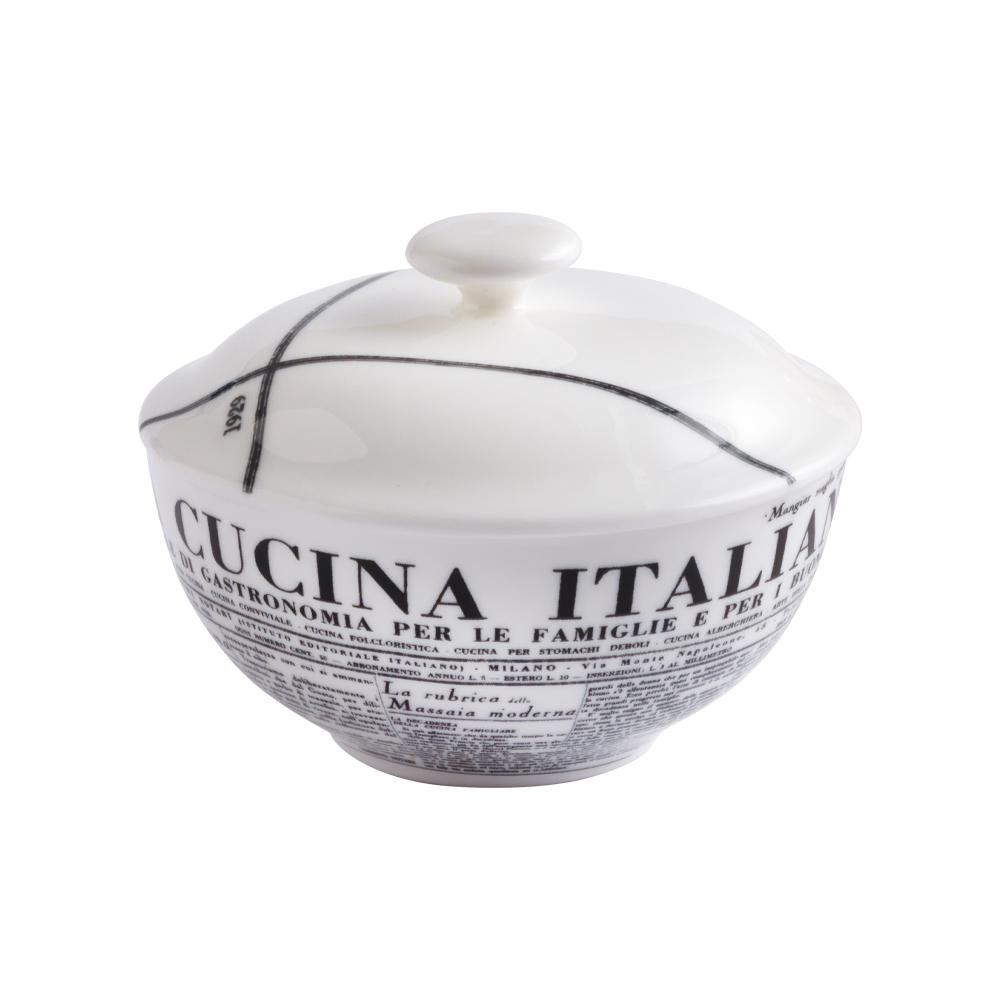 Zuccheriera con coperchio cm 10 | Geometric | La Cucina Italiana