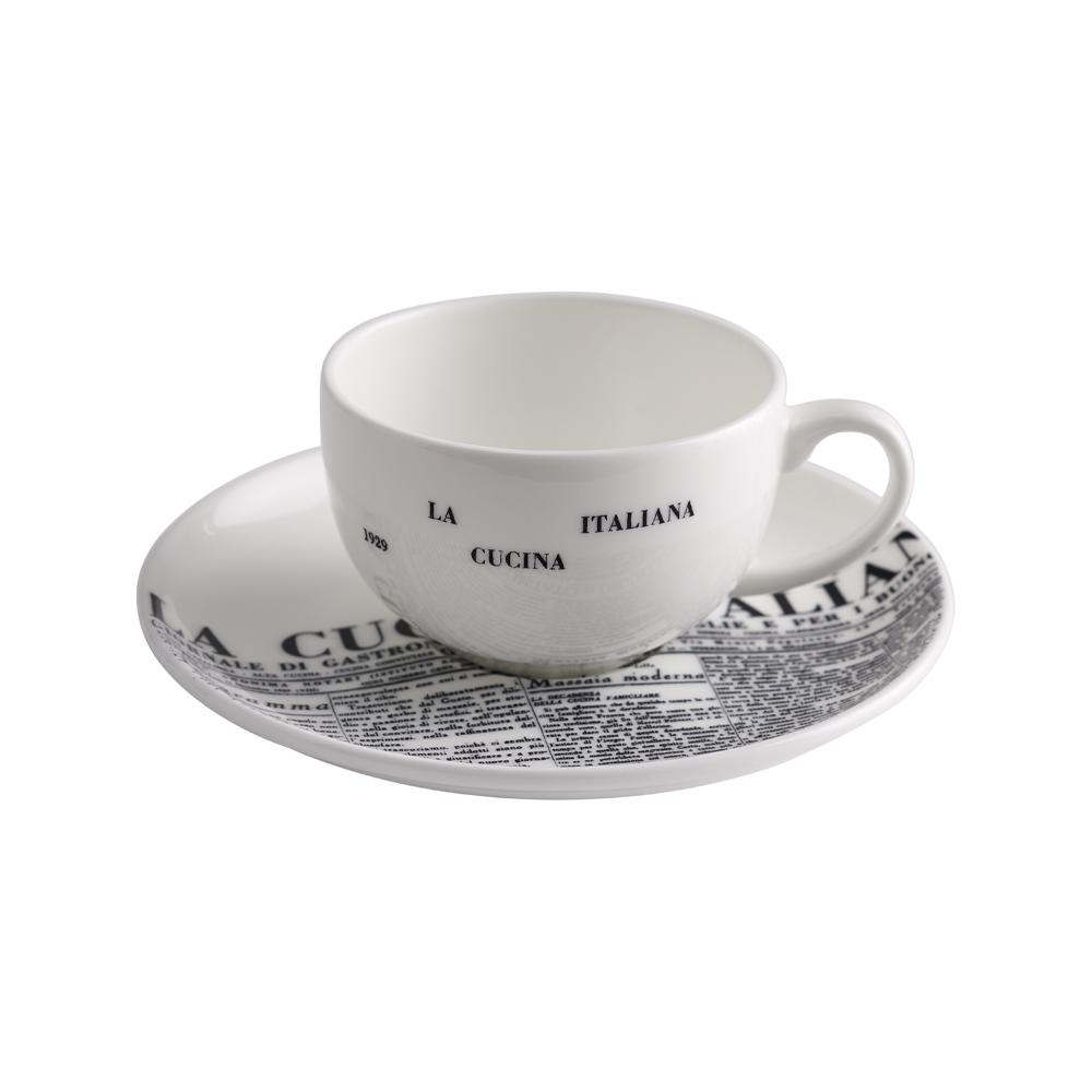 Tazza caffè con Piattino cc 110 | Geometric | La Cucina Italiana