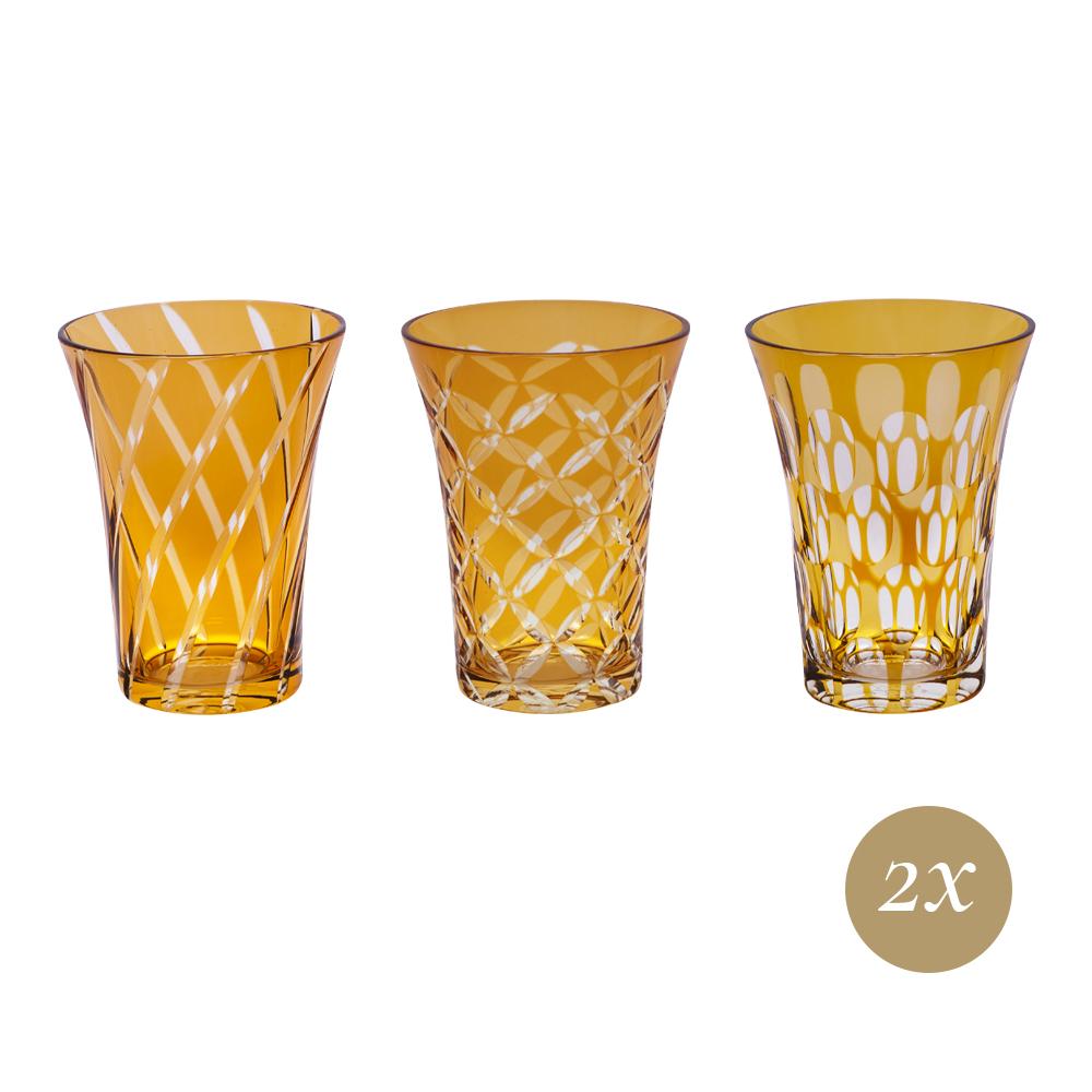 Set 6 bicchieri ambra   Twins