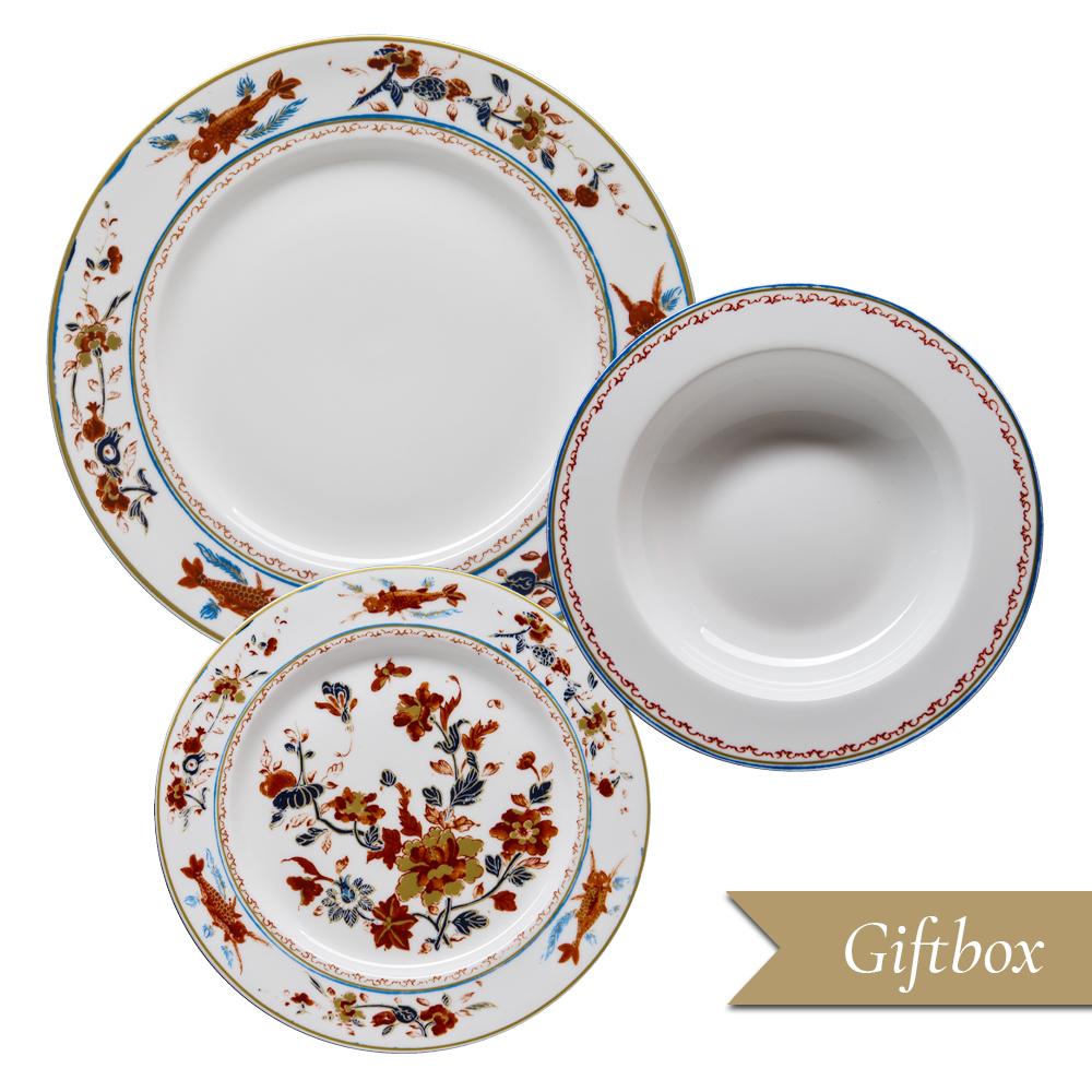Set 3 pezzi in Giftbox GCV   Chinesi Fiori Finiti