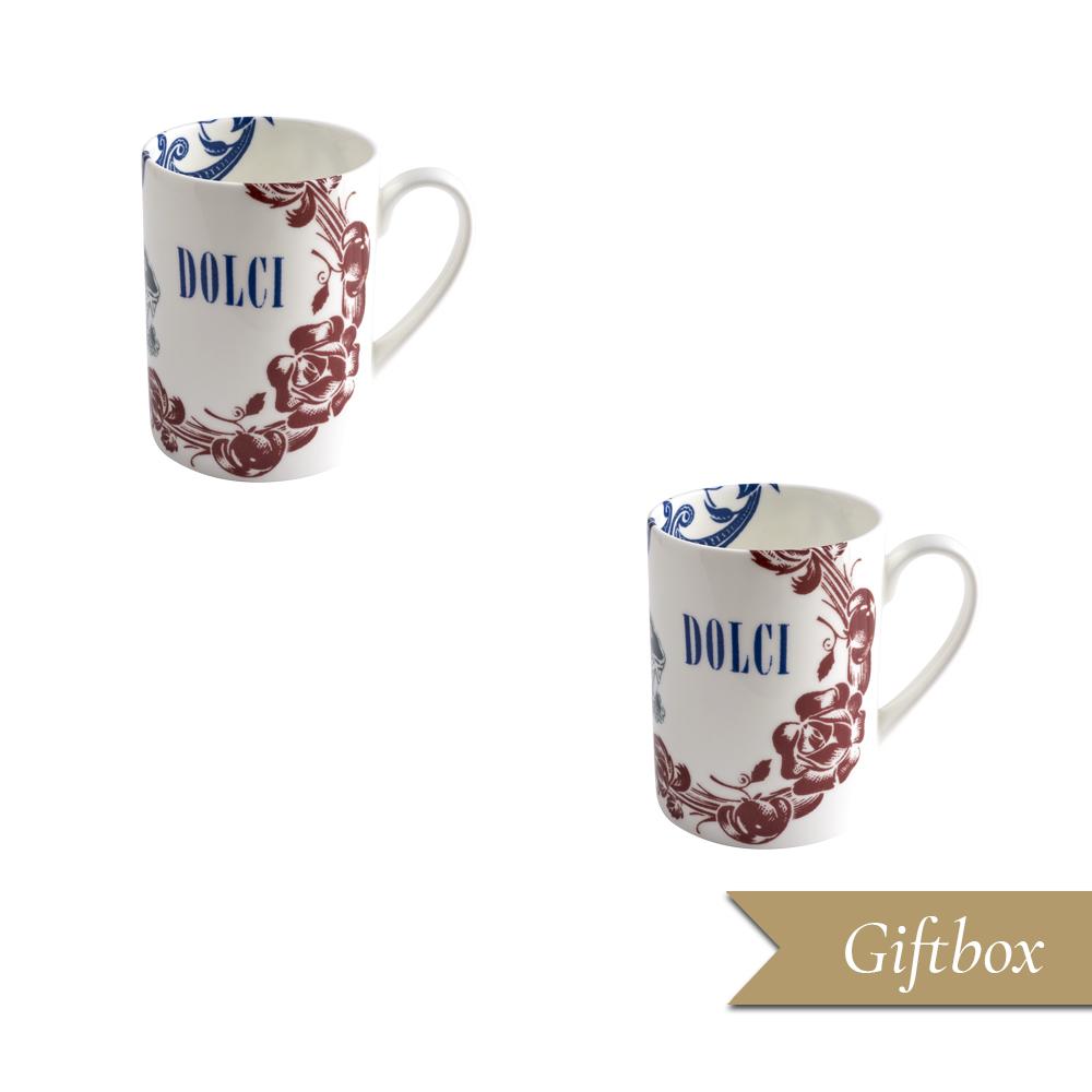 Set 2 Mugs in Giftbox GCV | Vintage | La Cucina Italiana