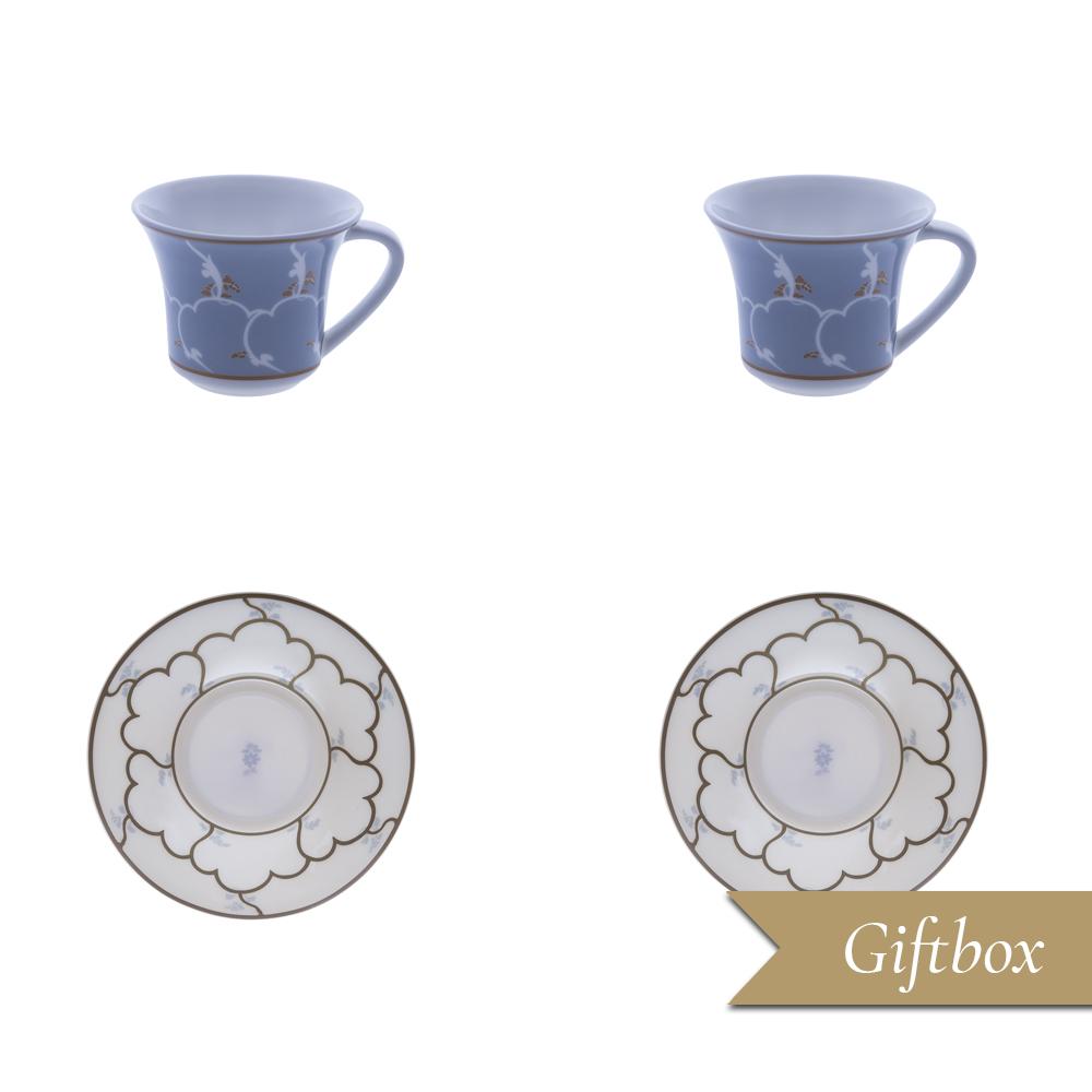 Set caffè 4 pezzi in Giftbox GCV | Feston e Cadena Azzurro