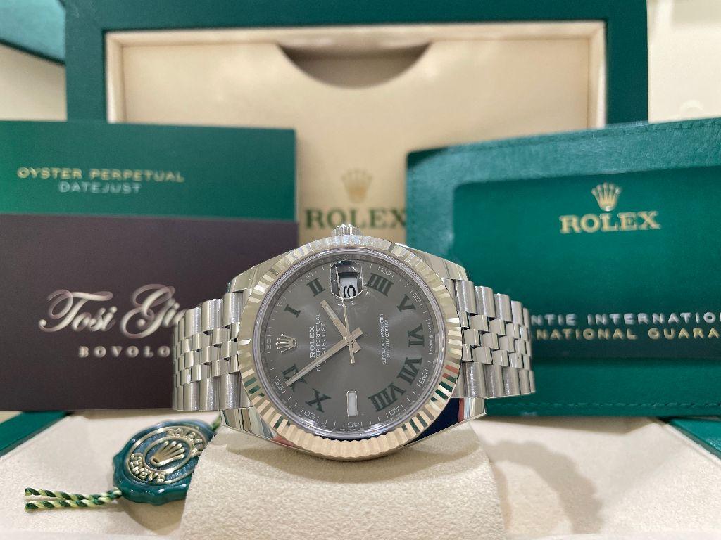 Rolex date just  126334  41 Wimbledon