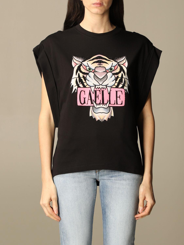 T-shirt con stampa tigre nera Gaelle Paris