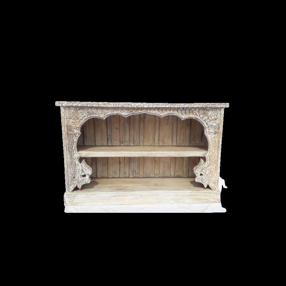Libreria bassa / Porta Tv in legno di palissandro indiano con frame in legno di teak recycle