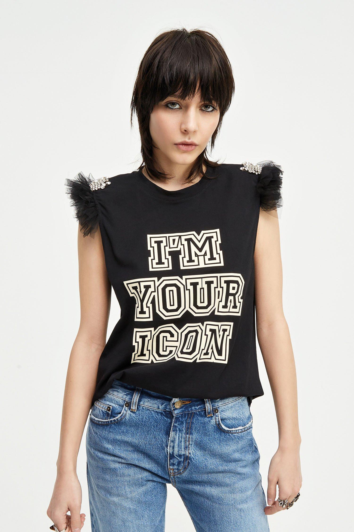 T-shirt Aniye Icon nera Aniye By