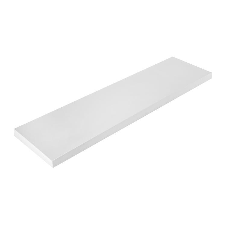 Mensola in Truciolato Nobilitato Bianco - Spessore: 10mm - Bordata su 4 lati