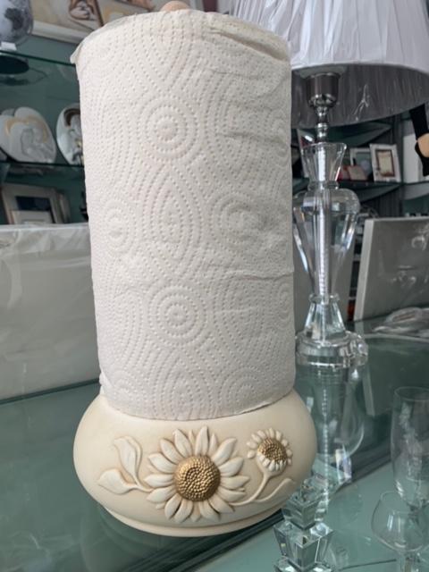 Portarotolo Shan in ceramica Collezione Girasoli cod. F197.13