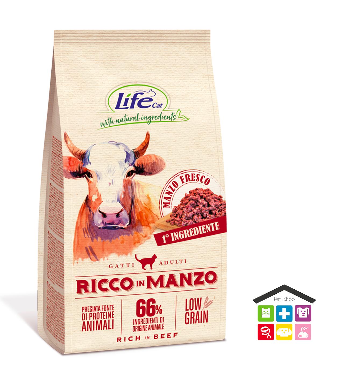 LIFE SECCO GATTO 1,5KG RICCO IN MANZO