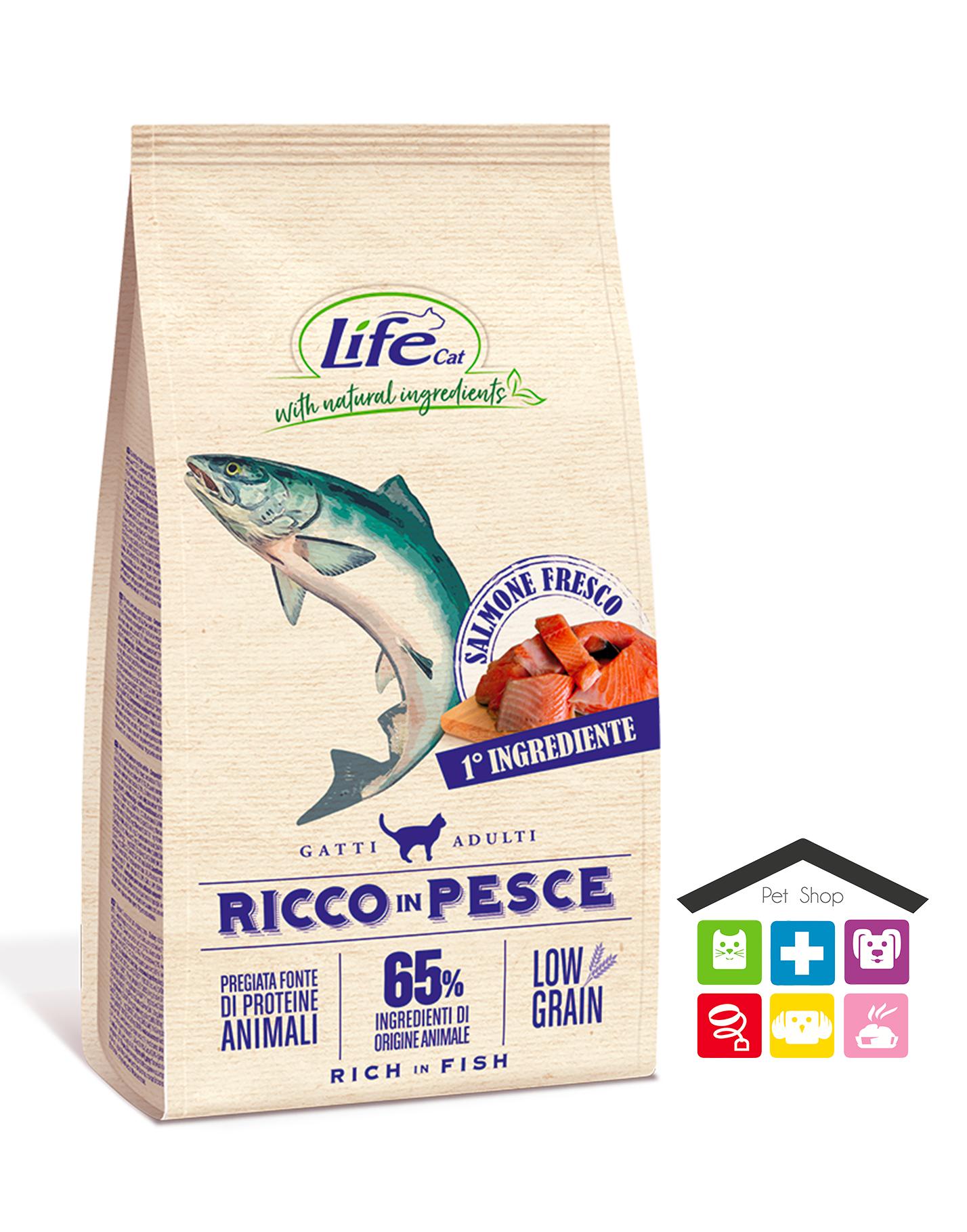 LIFE GATTO SECCO 1,5KG RICCO IN PESCE