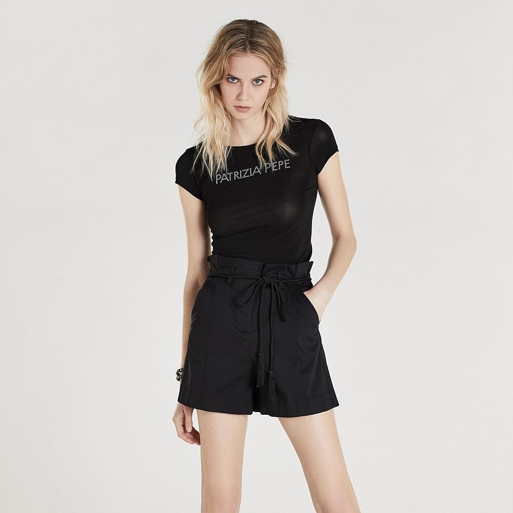 Shorts con cintura - PATRIZIA PEPE
