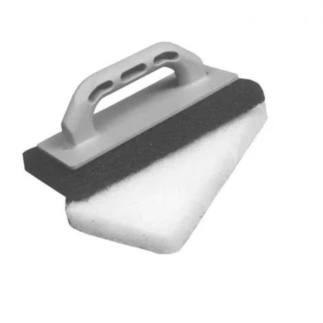 Frattazzo per pulizia pavimenti in Spugna Bianco/Nero con manico in plastica