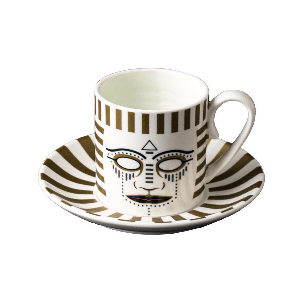 Tazza caffè cc 130 con piattino cm 12 | Pi-Atum | Ethnics