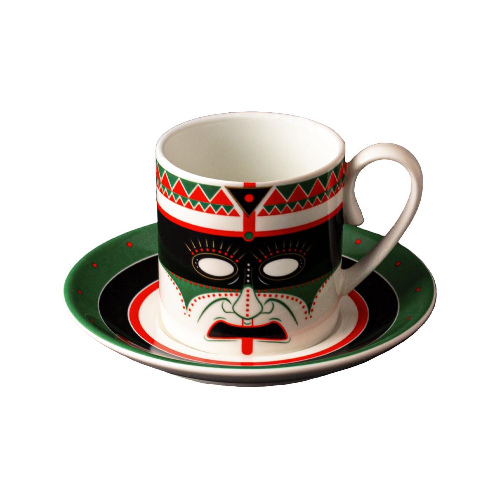 Tazza caffè cc 130 con piattino cm 12   Paha Sapa   Ethnics