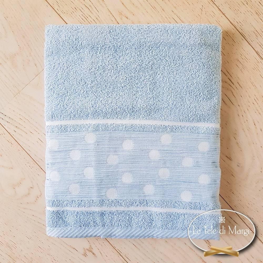 Telo doccia Pois Azzurro