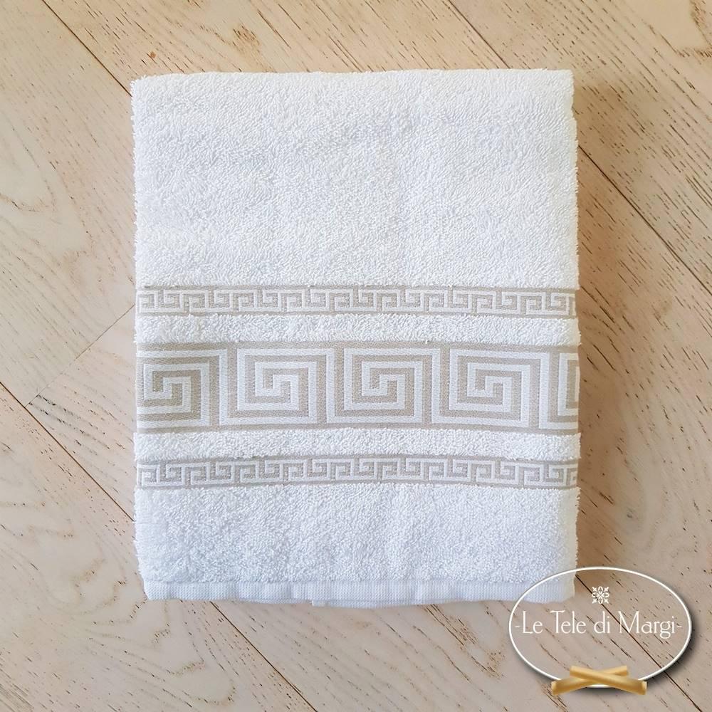 Telo doccia Greca bianco