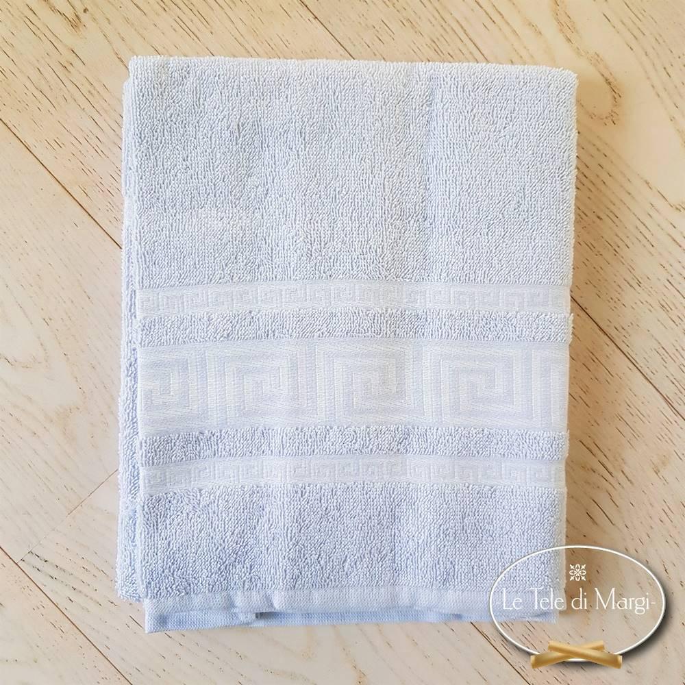 Telo doccia Greca grigio polvere